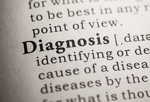 Word diagnois and its definition